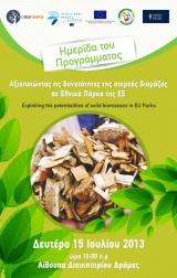 Ημερίδα: Αξιοποιώντας τις δυνατότητες της στερεάς βιομάζας σε εθνικά πάρκα τηςΕ.Ε.