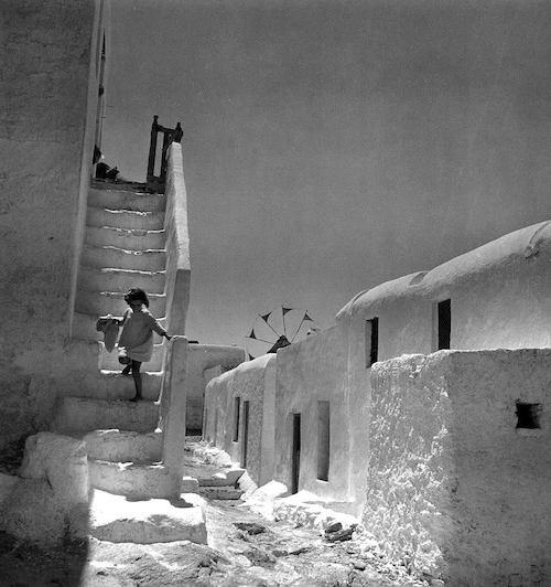 Μύκονος, αρχές της δεκαετίας του '50 (φωτογραφία Βούλα Παπαϊωάννου)