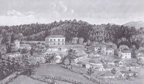 Το χωριό Αχμέταγα, με το γύρωθέν του δάσος το 1925 (πηγή: Barco Noel-Baker, «Μια νήσος στην Ελλάδα. Οι Noel-Baker στην Εύβοια», Οι εκδόσεις των Φίλων, Αθήνα 2003). Το δάσος του Αχμέταγα στην Εύβοια αγοράστηκε από τον Ελβετό τραπεζίτη Κάρολο Μίλλερ και τον Άγγλο κεφαλαιούχο Εδουάρδο Νόελ το 1832 (κατέληξε στην οικογένεια του δεύτερου). Περιελάμβανε 80.000 στρέμματα γης, καλυπτόμενης κατά το μέγιστο με δάσος, καθώς επίσης και από καλλιέργειες. Η οικογένεια Νόελ έκτισε χωριό για τους εργάτες της γης και τις οικογένειές τους, που είναι το σημερινό Προκόπι της Εύβοιας.