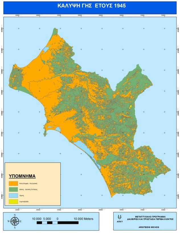 Χάρτης Νομού Ηλείας (1945)